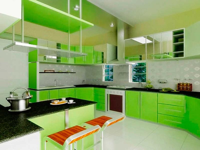 Кухни салатовые дизайн фото